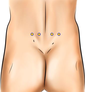 Acupressure Point - Bladder 23, Bladder 47